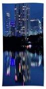 Bright Blue Hour In Austin Beach Sheet