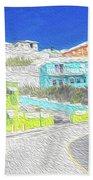Bright Parish Life Bermuda Beach Towel