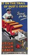 British Vacuum Cleaner Vintage Advert 1910 Beach Towel