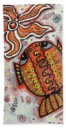 Brother Fish And Sister Starfish In Deep Conversation Beach Towel