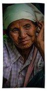 Burmese Lady Beach Towel by Chris Lord
