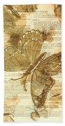 Butterfly Antiquities Beach Towel