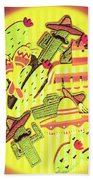 Cactus Carnival Beach Towel