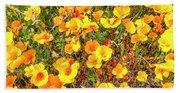 California Poppies - 2019 #3 Beach Towel