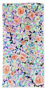California Rose Garden Beach Towel