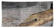 Calligraphy Writing Pen- Inspiring You To Write Beach Towel