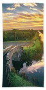 Canal Sunrise Beach Towel