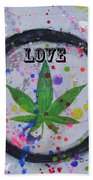 Cannabis With Love Beach Towel