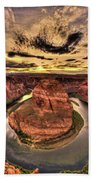 Canyons Bend Vertical  Beach Towel