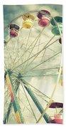 Carolina Beach Ferris Wheel Beach Towel
