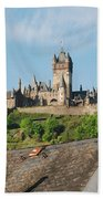 Castle At Cochem In Germany Beach Towel