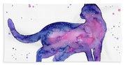 Cat In Space Beach Sheet