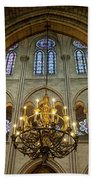 Cathedral Notre Dame Chandelier Beach Towel by Brian Jannsen