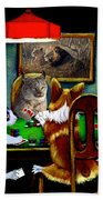 Cats Are Wild Poker Beach Towel