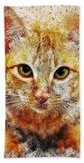 Cat's Eye Beach Towel