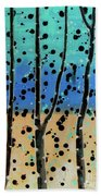 Celebration - Abstract Landscape  Beach Towel