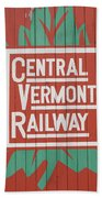 Central Vermont Railway Beach Towel