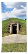 Indian Mound At Ocmulgee National Monument 1 Beach Towel