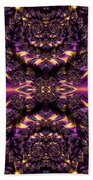 Chained Dragons Condemned  To Battle In Hells Fiery Furnace Fractal Abstract Beach Towel by Rose Santuci-Sofranko