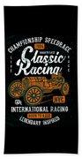 Championship Speed Race Classic Racing Beach Towel