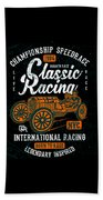 Championship Speed Race Classic Racing Beach Sheet