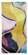 Chaotic Abstract Shapes Beach Towel