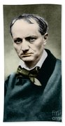 Charles Baudelaire, French Writer, Photo Beach Towel