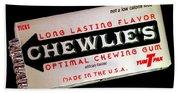 Chewlie's Gum Clerks Beach Towel