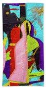 Chiang Mai Buddha Collage 16 Beach Towel