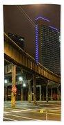 Chicago City Streets Beach Towel