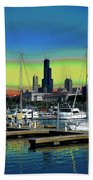 Chicago Marina Beach Towel