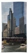 Chicago Skyline #1 Beach Towel