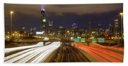 Chicago Skyline South Side View Beach Towel