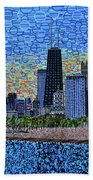 Chicago Sunset Beach Towel