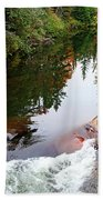 Chikanishing River In Autumn Beach Towel