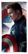 Chris Evans Captain America  Avengers Beach Sheet