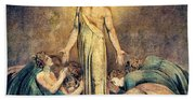 Christ Appearing To The Apostles After The Resurrection - Digital Remastered Edition Beach Sheet