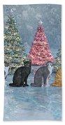 Christmas Cats Beach Sheet