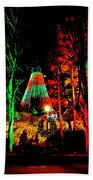 Christmas Red And Green Beach Towel