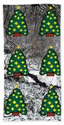 Christmas Trees Beach Sheet