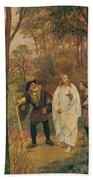 Christus Und Die J Nger Von Emmaus 1914 Beach Towel