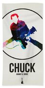 Chuck Berry Watercolor Beach Towel