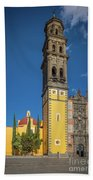 Church Of San Francisco In Puebla Beach Towel