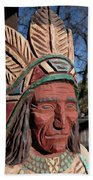 Cigar Store Indian  Beach Towel