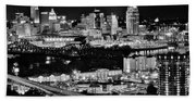 Cincinnati Covington And Ohio River Beach Towel
