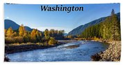 Cispus River In The Gifford Pinchot National Forest, Washington State Beach Towel