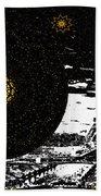 City Of Lights - Kaleidoscope Moon For Children Gone Too Soon Number 6  Beach Towel