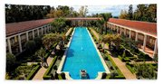 Classic Awesome J Paul Getty Architectural View Villa  Beach Sheet