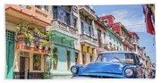 Classic Car Havana 8x10 Beach Towel