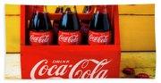 Classic Six Pack Of Cokes Beach Sheet